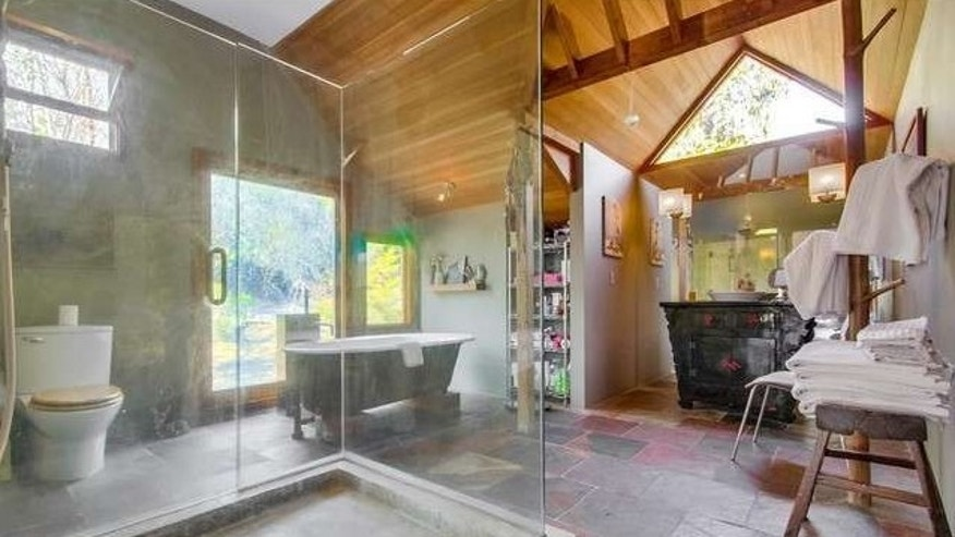 The eclectic master bath.