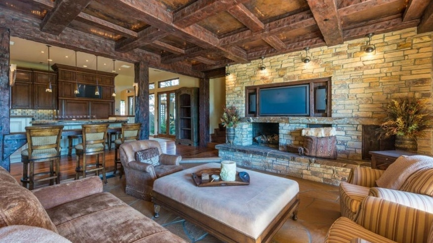 The Southwestern-inspired living area.