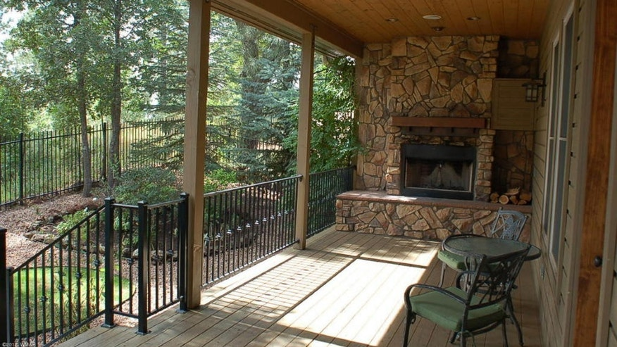 One of the decks even comes with a fireplace.