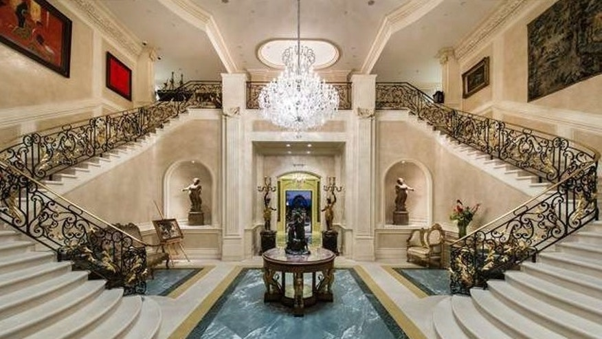 The home's super-glam entryway.