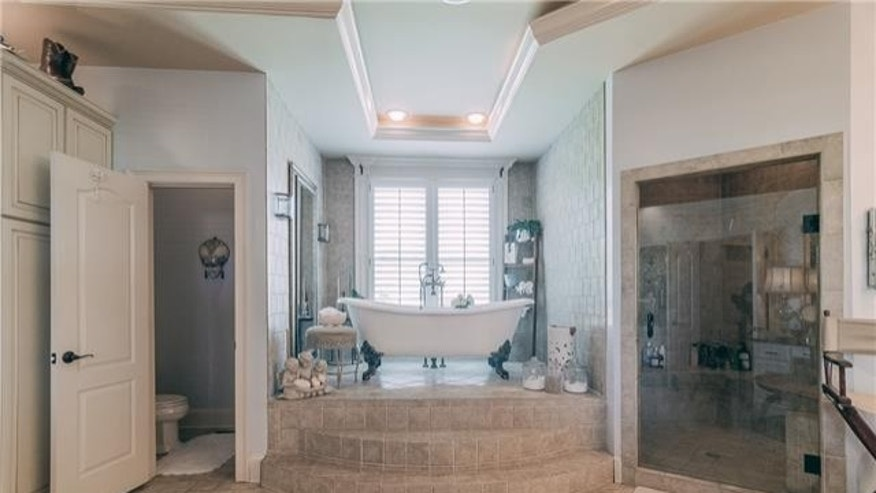 The elegant master bath.