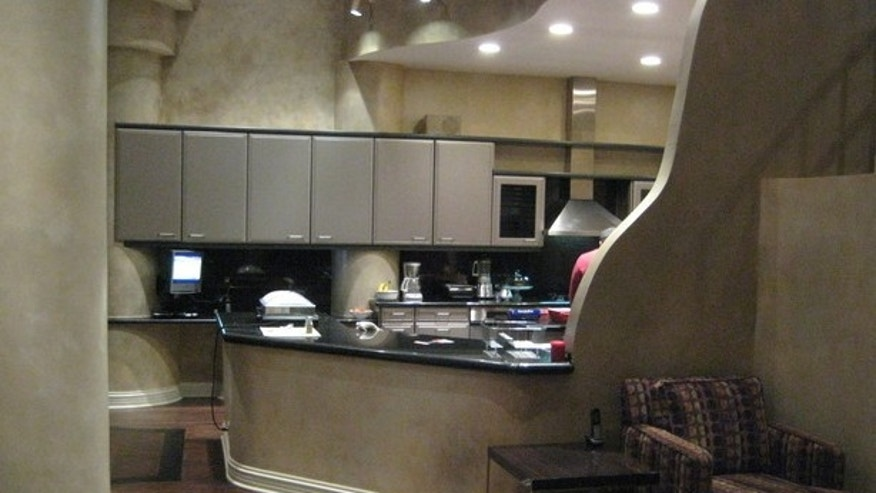 Curvy features in the kitchen.