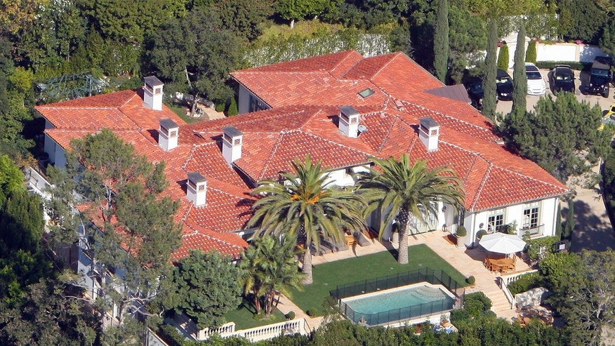 David and Victoria Beckham's home in Beverly Hills