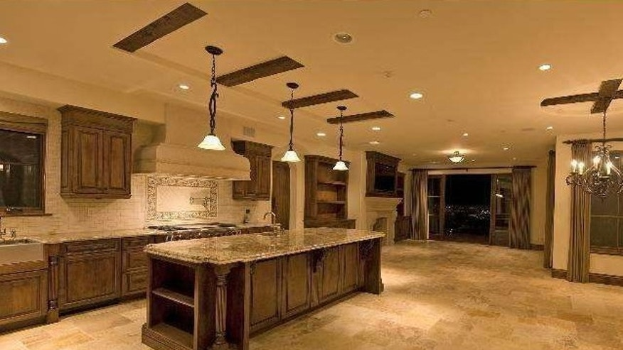 An expansive chef's kitchen.