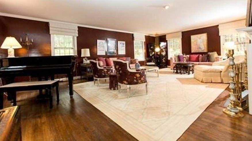 The regal formal living space.