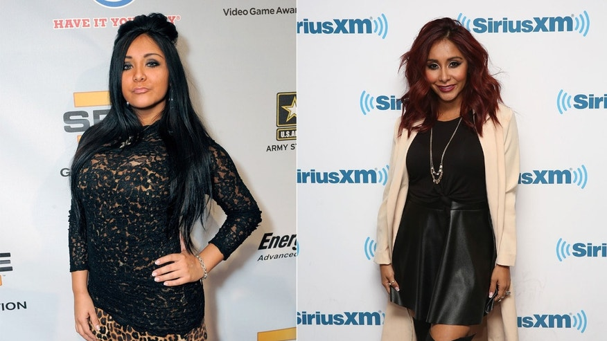 Snooki in 2009; Nicole Polizzi this year