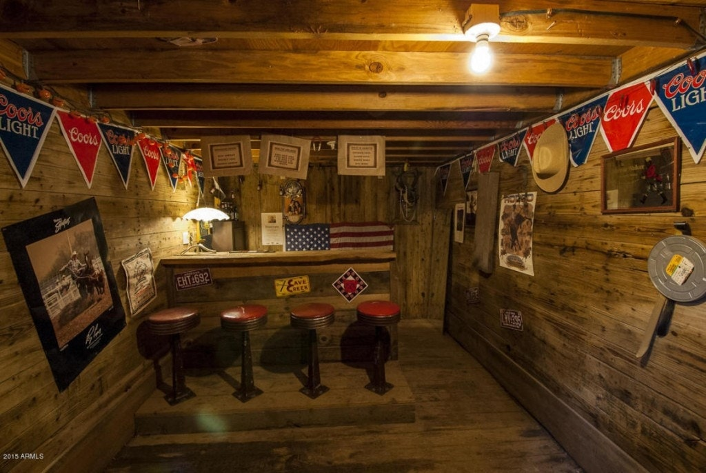 Man Cave Train Room : Buried railroad cars make for a monumental man cave in