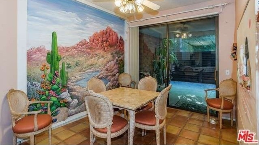 Desert mural in breakfast nook