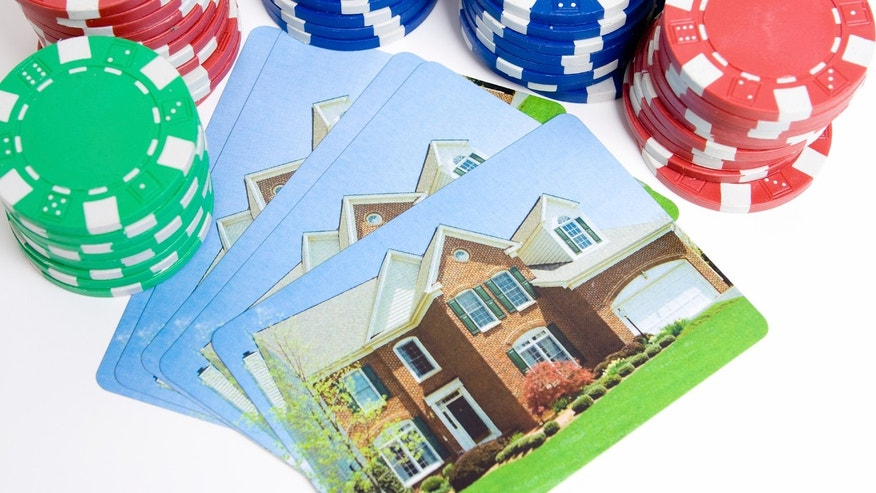 Poker Chips House Playing Cards