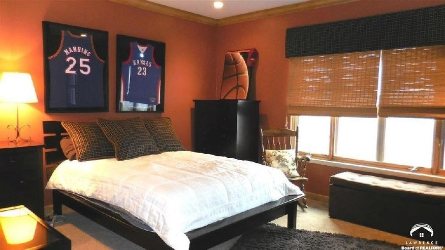 Bedroom With B-Ball Decor