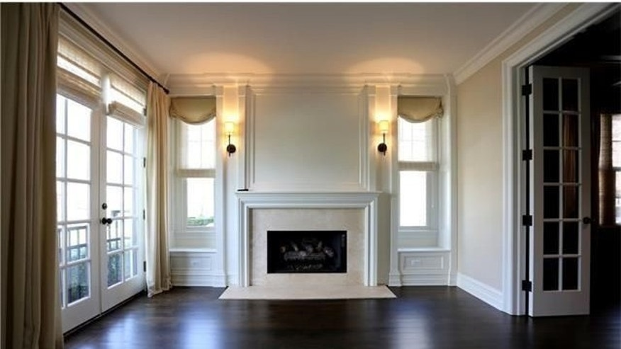Fireplace and hardwood floors