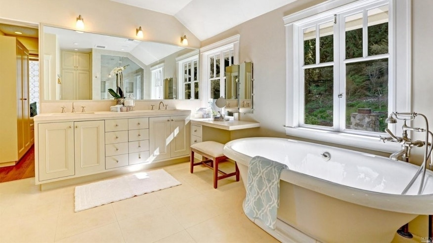 Room for leisure in the master bath.