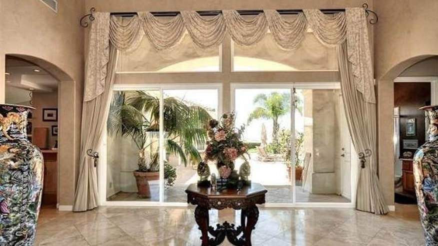 A luxe entry at the rental property.