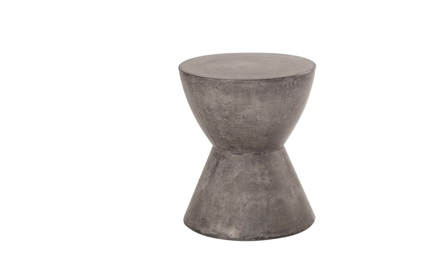 This concrete stool is simple yet elegant alternative to pricier stone options.
