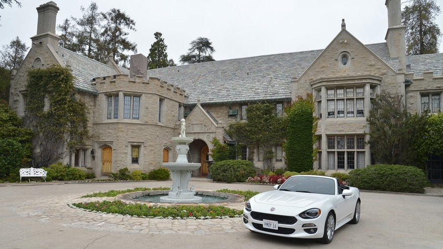 LOS ANGELES, CA - MAY 11: The All-New 2017 Fiat 124 Spider at Playboy's 2016 Playmate of the Year Announcement at the Playboy Mansion on May 11, 2016 in Los Angeles, California. (Photo by Charley Gallay/Getty Images for Playboy)