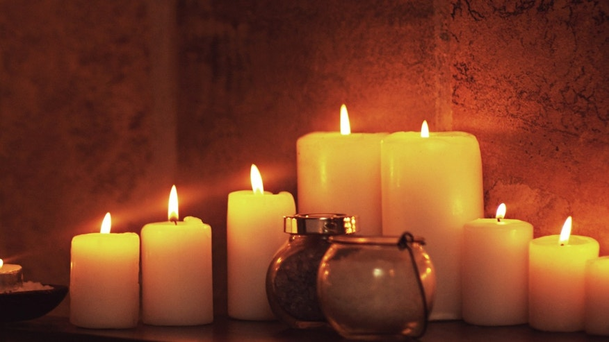 Create a warm glow with an assortment of candles.