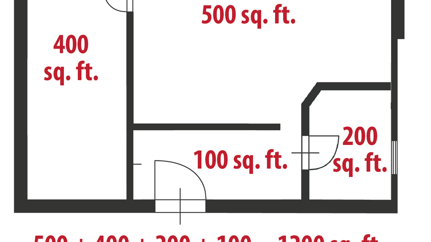 how to calculate square feet