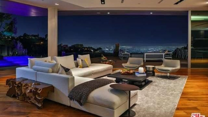 The living room of the Murphy/Monjack home, perched above the Sunset Strip.