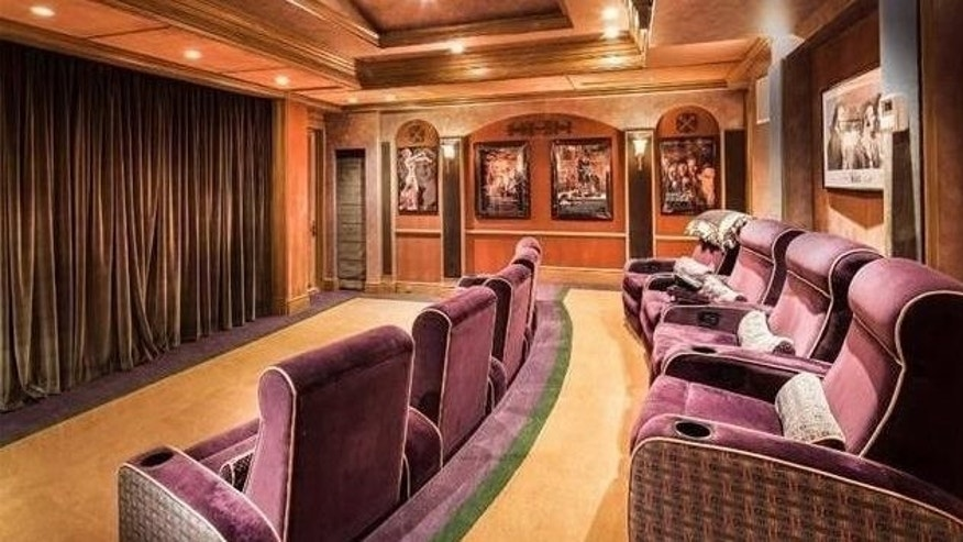 Larry's Bird's Florida house home theater
