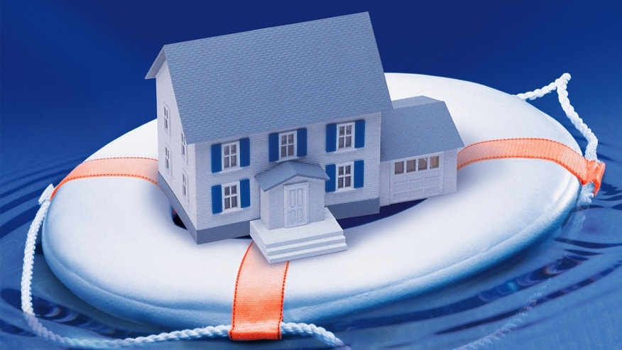 House floating on life preserver