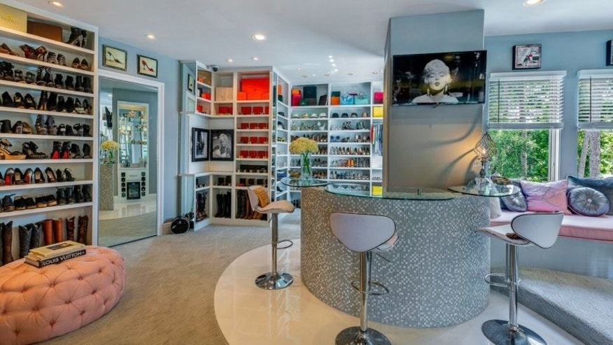 Champagne bar in the 3,000 square foot, three-story closet
