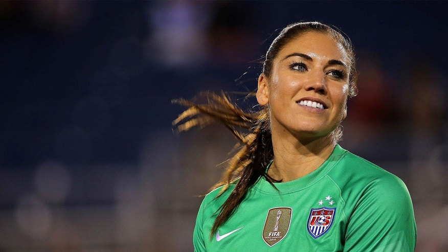USWNT goal keeper Hope Solo