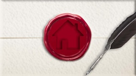 offer letter sealed with wax, feather quill