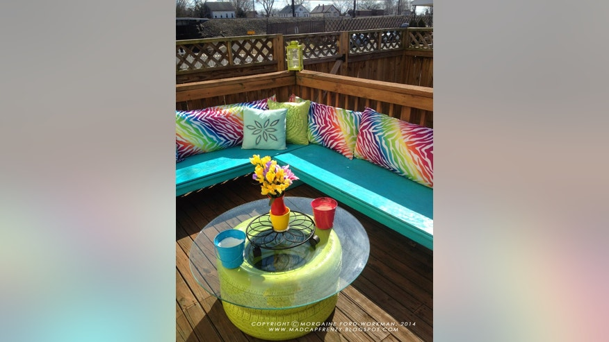 tire coffee table upcycled furniture