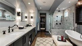 Remodeled master bath in home of former MLB player Jim Edmonds and Real Housewife of Orange County Meghan King Edmonds