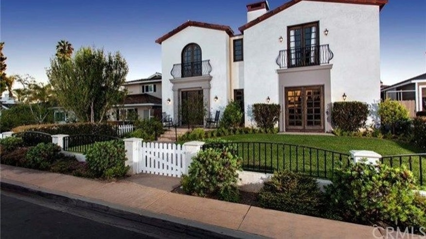 Exterior of home remodeled by former MLB player Jim Edmonds and Real Housewife of Orange County Meghan King Edmonds