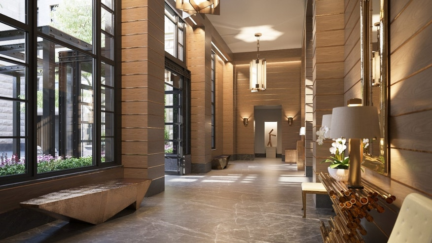 Rendering of 70 Vestry Lobby