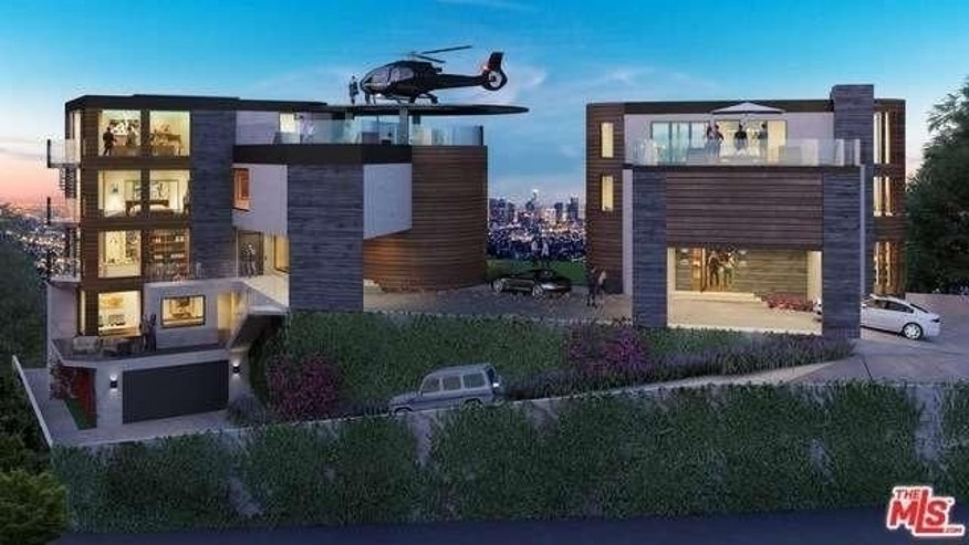 Get to the chopper 5 luxury homes with private helipads for Luxury homes in hollywood hills