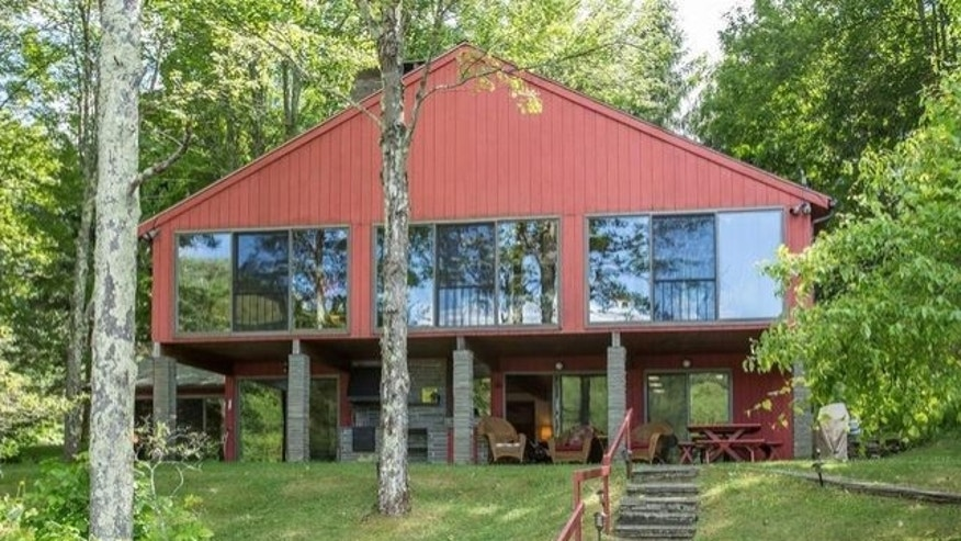 The 2,688 square-foot home sits nestled on 580 acres.