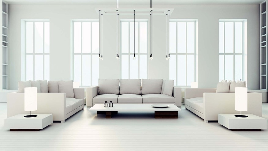 large white living room