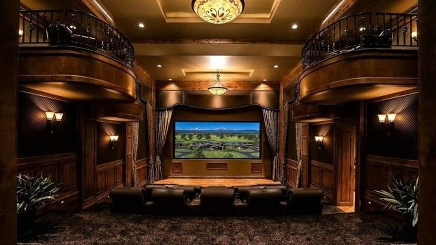 The home theater even includes box seats.