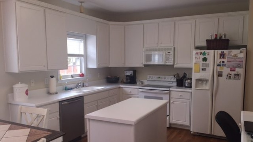The Lightners' kitchen before the makeover.