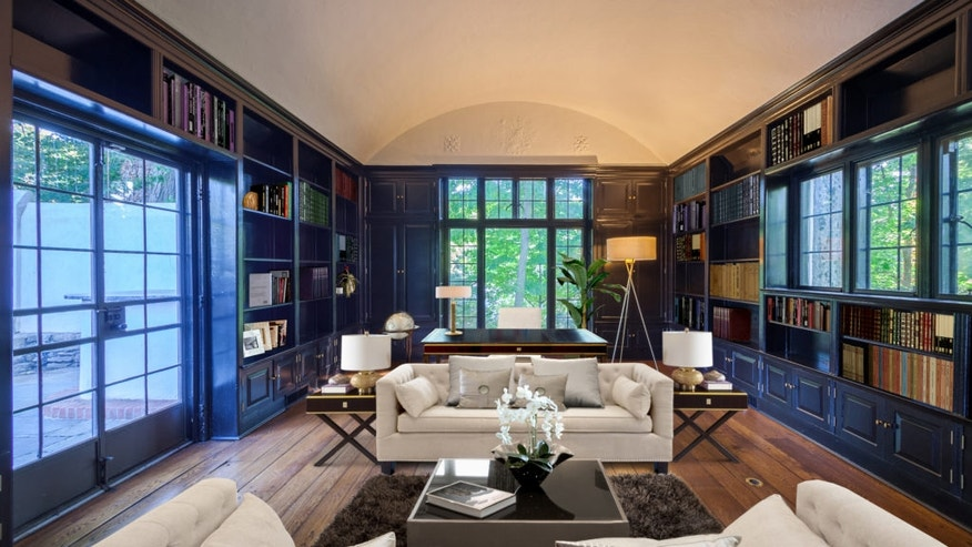 The library Lewis had added to the Bronxville home.