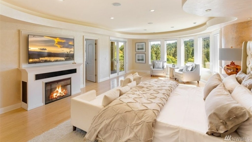 Luxurious master suite.