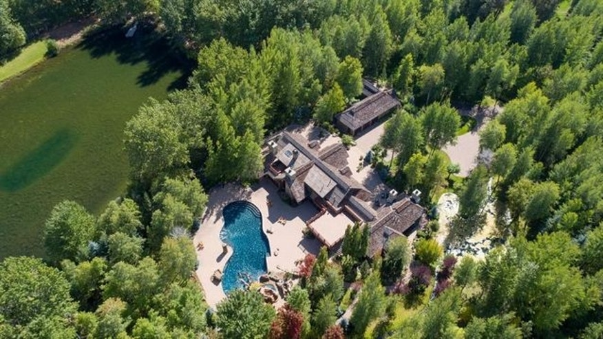 Overhead view of Bruce Willis Idaho ranch