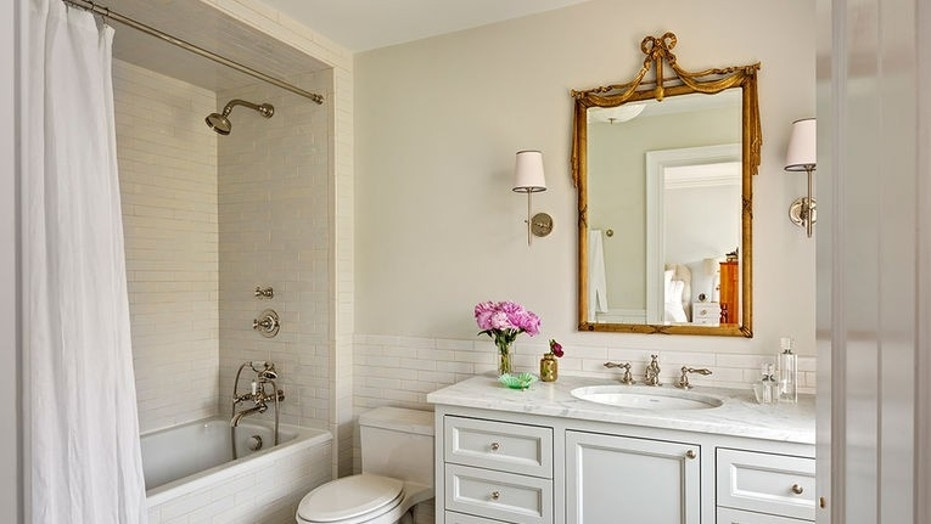 The pros and cons of 9 por bathroom mirror options | Fox News Houzz Powder Room Bathrooms Designs Html on wallpaper powder bathroom, beach powder bathroom, houzz dining room,