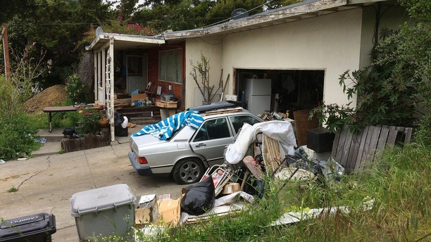 A condemned home is seen Wednesday, April 18, 2018, in Fremont, Calif. The condemned Northern California house with holes in the roof and mildew in the pipes sold last month for $1.23 million. (AP Photo/Ben Margot)