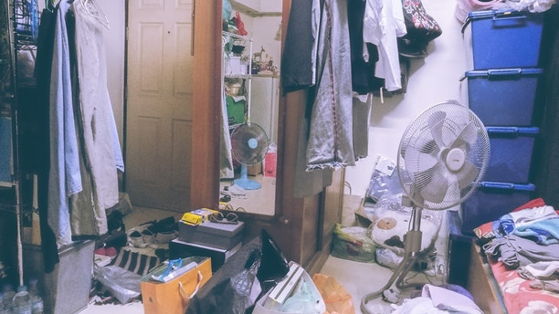 cluttered house istock