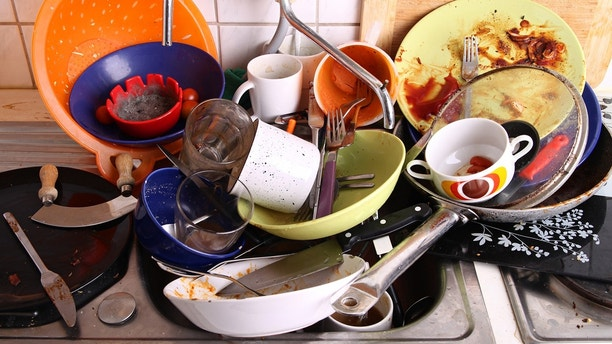 dirty dishes istock