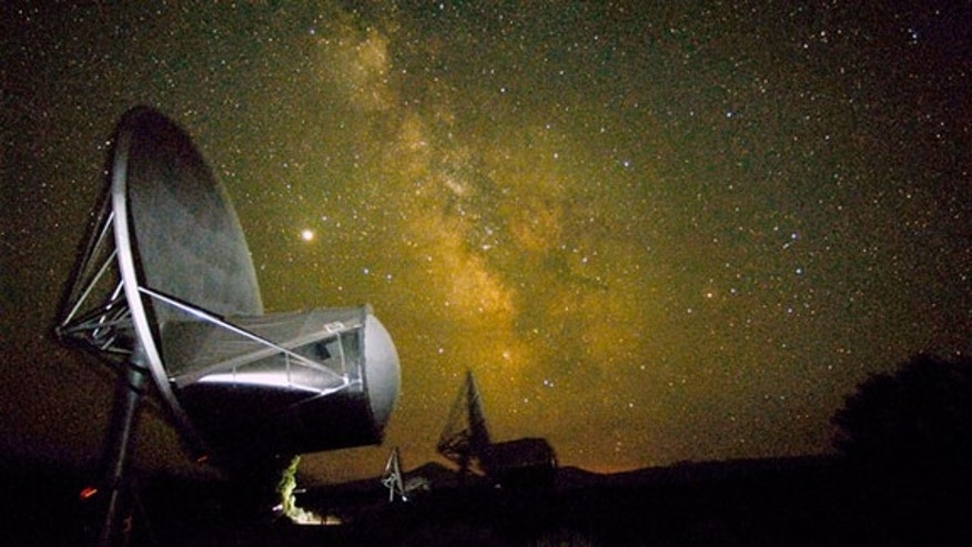 Antennas of the Allen Telescope Array have been used to study signals from remote galaxies, supernova remnants, extrasolar planetary systems, and the interstellar medium. Each antenna is about 20 feet wide. A new contracted job is to assist the