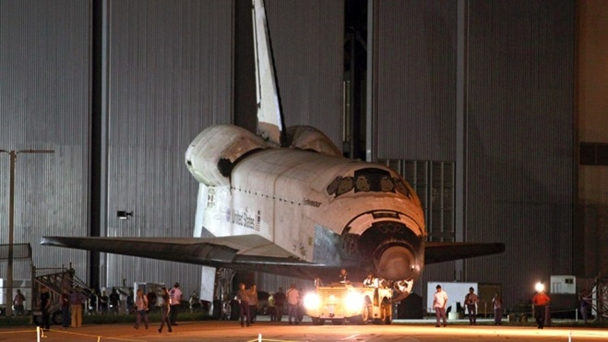 Sept. 14, 2012: Space shuttle Endeavour is towed to the Kennedy Space Center landing facility in Cape Canaveral, Fla.