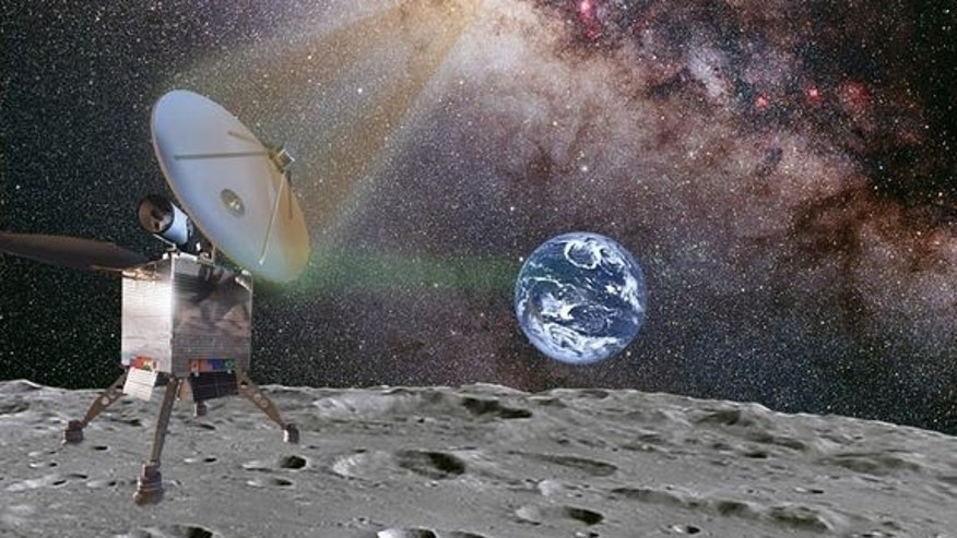 Illustration of a planned Chinese moon lander, Chang'e 3, which will be used for astronomical imaging under a new agreement by China and the U.S.-based International Lunar Observatory Association (ILOA).