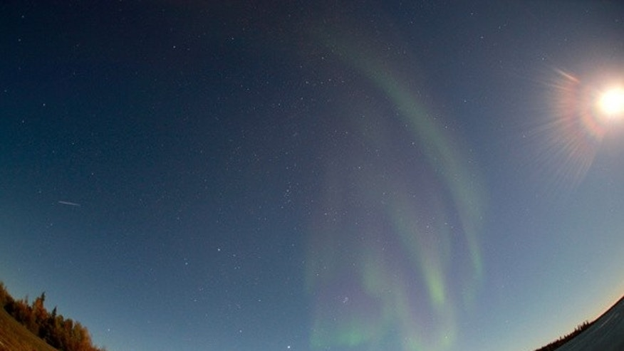 "The Canadian Space Agency's AuroraMAX observatory tweeted this photo and wrote: ""Latest image of aurora borealis above Yellowknife, taken at 01:08 MDT on September 01, 2012."""