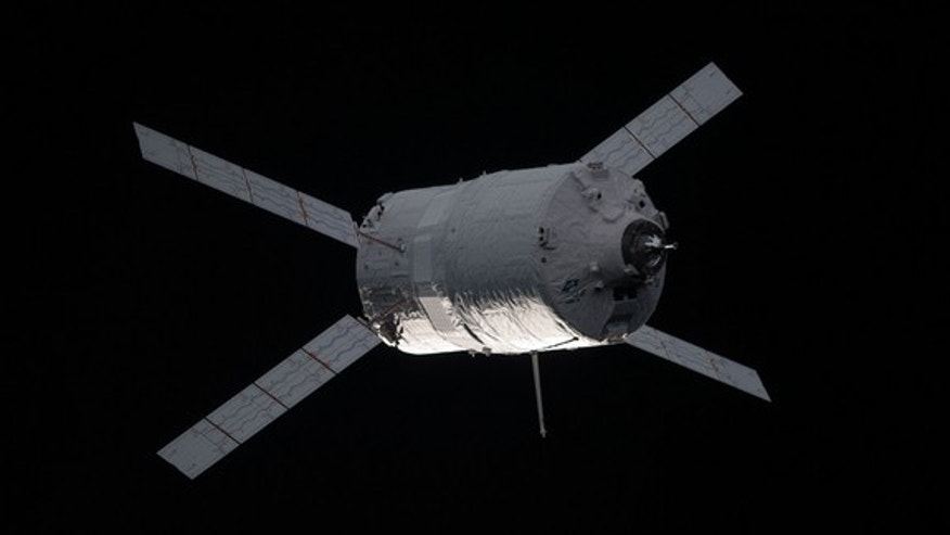 "European Space Agency's ""Edoardo Amaldi"" Automated Transfer Vehicle-3 (ATV-3) nears the International Space Station, on March 28, 2012."