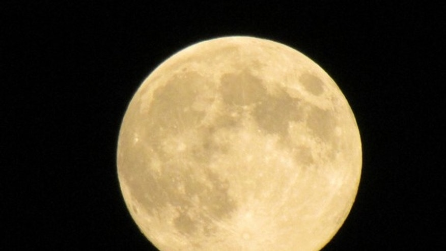Carole Francis took this picture of the Harvest Moon over northeastern Pennsylvania, September 11, 2011.