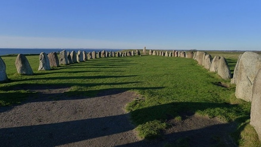"Ale's Stones, also known as ""Sweden's Stonehenge,"" consists of 59 stones that appear to form a 220-foot-long ship overlooking the Baltic Sea near the fishing village of Kaseberga."